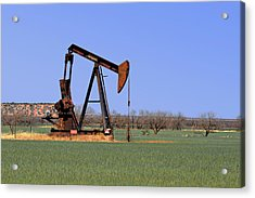 Pump Jack A Texas Icon Acrylic Print by Christine Till