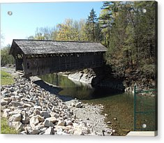 Pumping Station Covered Bridge Acrylic Print by Catherine Gagne