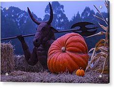 Pumpkin And Minotaur Acrylic Print