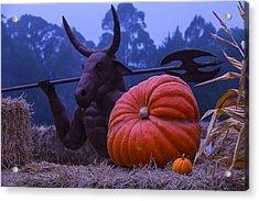 Pumpkin And Minotaur Acrylic Print by Garry Gay