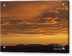 Pumpkin Buttes At Sunrise Acrylic Print