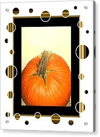 Pumpkin Card Acrylic Print