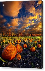 Pumpkin Crossing Acrylic Print