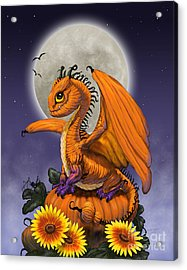 Pumpkin Dragon Acrylic Print by Stanley Morrison