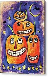 Pumpkin Family Acrylic Print by Anne Tavoletti