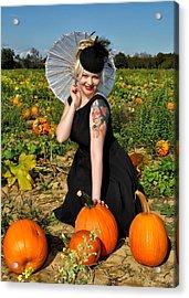 Pumpkin Patch Acrylic Print by Jim Poulos