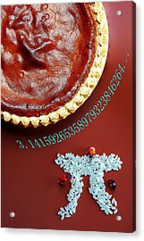 Acrylic Print featuring the photograph Pumpkin Pie And Pi Food Physics by Paul Ge