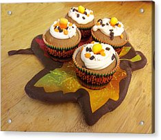 Pumpkin Spice Cupcakes Acrylic Print by Rosalie Klidies