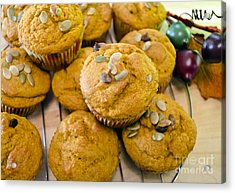 Acrylic Print featuring the photograph Pumpkin Spice Muffins For Fall by Maria Janicki
