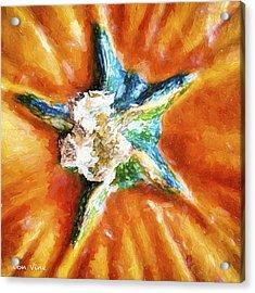 Pumpkin Star Acrylic Print