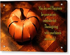 Pumpkin Thanksgiving Card Acrylic Print