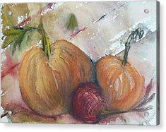 Pumpkins And Onion Acrylic Print