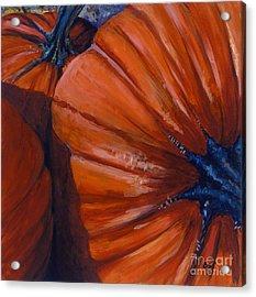 Pumpkins Acrylic Print by Betsee  Talavera