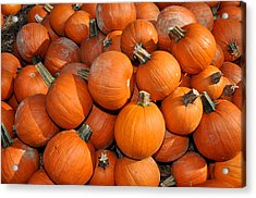 Acrylic Print featuring the photograph Pumpkins by Diane Lent
