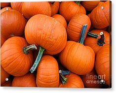 Acrylic Print featuring the photograph Pumpkins  by Sarah Mullin
