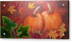 Pumpkins Acrylic Print by Valorie Cross