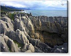 Acrylic Print featuring the photograph Punakaiki Pancake Rocks #2 by Stuart Litoff
