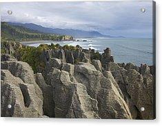 Acrylic Print featuring the photograph Punakaiki Pancake Rocks by Stuart Litoff