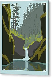 Punch Bowl Falls Acrylic Print by Mitch Frey