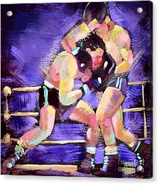 Acrylic Print featuring the painting Punch Out by Robert Phelps