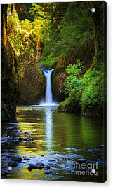 Punchbowl Falls Acrylic Print by Inge Johnsson