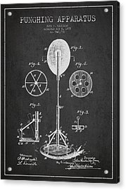 Punching Apparatus Patent Drawing From1895 Acrylic Print