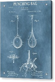 Punching Bag Patent Acrylic Print by Dan Sproul