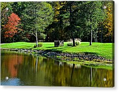 Punderson Golf Course Acrylic Print by Frozen in Time Fine Art Photography
