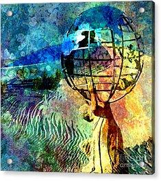 Punishment Of Atlas Acrylic Print by Tammera Malicki-Wong