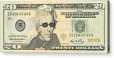 Punk 20 Dollar Bill Acrylic Print