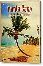 Punta Cana Dominican Republic Acrylic Print by Flo Karp