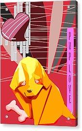Puplove Acrylic Print by Trishagni Naik