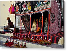 Puppet Show City Palace Jaipur India Acrylic Print by Diane Lent