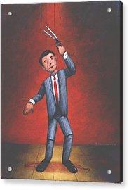 Puppet Acrylic Print by Steve Dininno