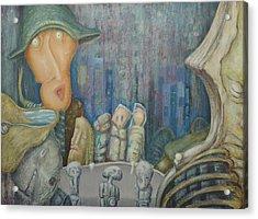 Puppet Theatre Acrylic Print by Slobodan Loncarevic
