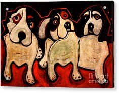 Puppies In A Row Acrylic Print