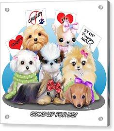 Puppies Manifesto Acrylic Print