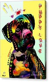Puppy Love Acrylic Print by Mark Ashkenazi