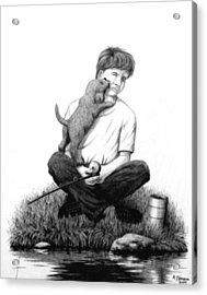 Puppy Love Acrylic Print by Roger Jansen