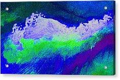 Pura Midnight Blue Acrylic Print by L J Smith