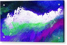 Pura Purple Acrylic Print by L J Smith
