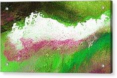Pura Scarlet Green Acrylic Print by L J Smith