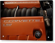 Pure American Racing - Corvette Engine The Ls-2  Acrylic Print by Steven Milner