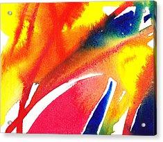 Pure Color Inspiration Abstract Painting Enchanted Crossing Acrylic Print by Irina Sztukowski