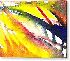 Pure Color Inspiration Abstract Painting Escaping Blaze Acrylic Print by Irina Sztukowski