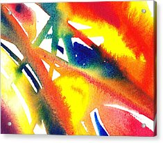 Pure Color Inspiration Abstract Painting Flamboyant Glide  Acrylic Print by Irina Sztukowski