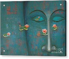 Pure Thoughts Acrylic Print by Mini Arora
