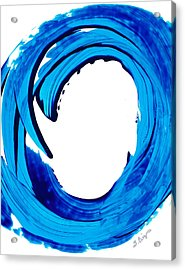 Pure Water 312 - Blue Abstract Art By Sharon Cummings Acrylic Print