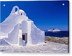 Pure White Church Acrylic Print