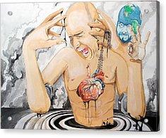 Purge Acrylic Print by Lazaro Hurtado